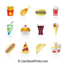 圖象, 食物, 快, 飲料