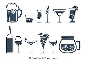 圖象, 飲料, 酒精, 集合, 飲料