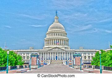 團結, 州議會大廈, 華盛頓特區, 國家, 建築物
