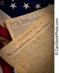 團結, 憲法, 國家, 旗, 背景, 宣告, 獨立