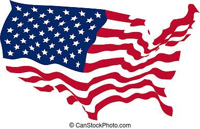 團結, 成形, 國家, 旗