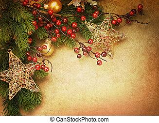 圣誕節卡片, retro