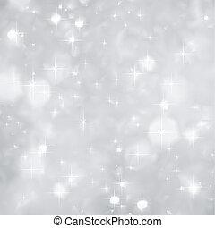 圣誕節。, 閃耀, 矢量, 銀, 背景