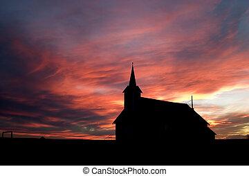 在期間, 傍晚, 教堂
