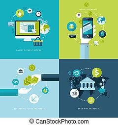 在網上, 套間, 付款, 概念