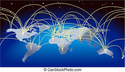 地圖背景, 世界貿易