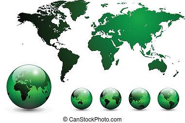 地圖, 世界