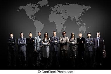 地圖, 世界, 隊, 商業界人士