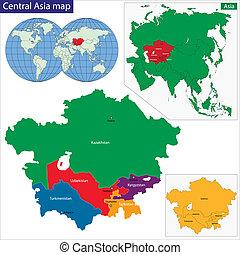 地圖, 中亞