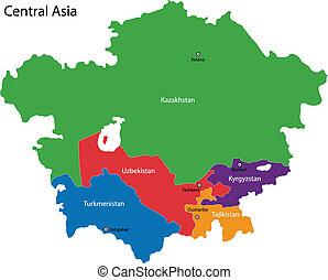 地圖, 亞洲, 中央