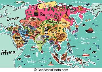 地圖, 亞洲