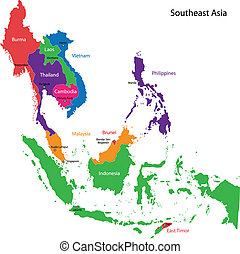 地圖, 亞洲, 東南