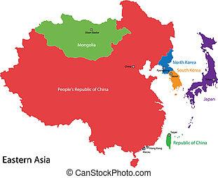 地圖, 亞洲, 東部
