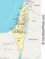 地圖, 以色列, 政治