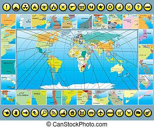 地圖, 元素, 世界