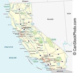 地圖, 加利福尼亞