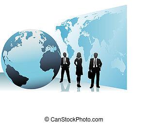 地圖, 商業界人士, 世界全球, 國際, 世界