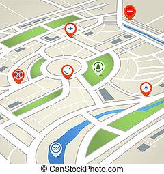 地圖, 城市, 摘要