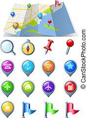 地圖, 填塞, 圖象, 航行