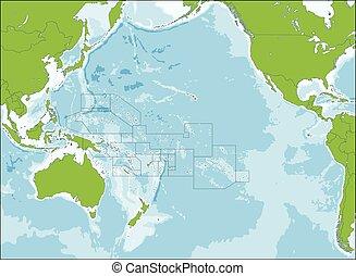 地圖, 大洋洲