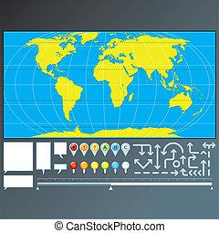 地圖, 指針, 箭, 標誌