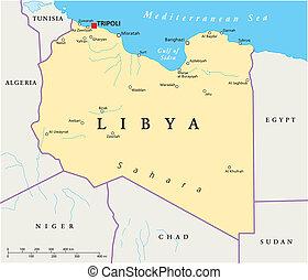 地圖, 政治, 利比亞