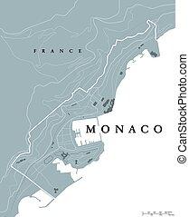 地圖, 政治, 摩納哥