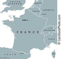 地圖, 政治, 法國