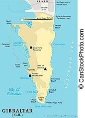 地圖, 政治, 直布羅陀
