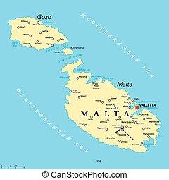 地圖, 政治, 馬耳他