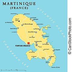 地圖, 政治, martinique