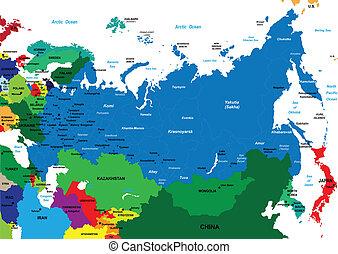 地圖, 政治, russia