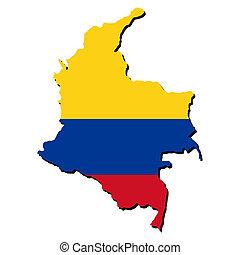 地圖, 旗, 哥倫比亞