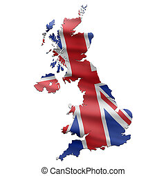 地圖, 旗, 英國, 英國人