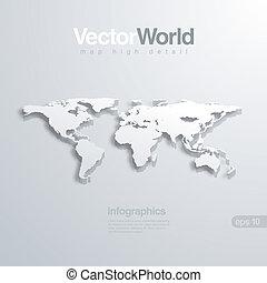 地圖, 有用, infographics, 矢量, illlustraion., 世界, 3d