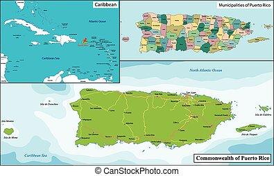 地圖, 波多黎各