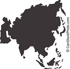 地圖, 矢量, 亞洲