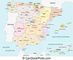 地圖, 管理, 西班牙