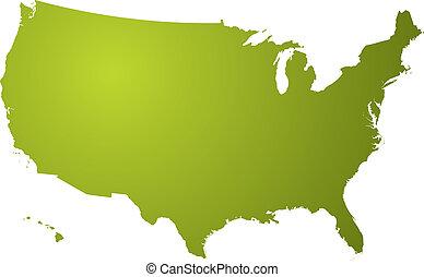 地圖, 綠色, 我們