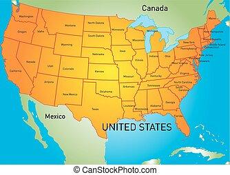 地圖, 美國