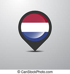 地圖, 荷蘭, 別針