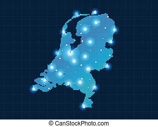 地圖, 荷蘭, 象素