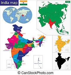 地圖, 西方亞洲