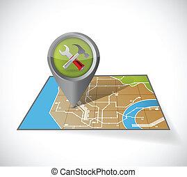 地圖, 設計, 插圖, 工具