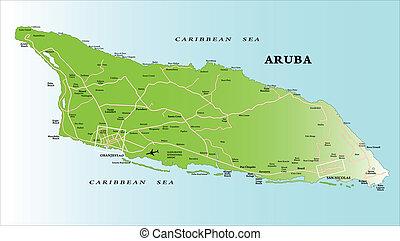 地圖, aruba
