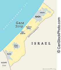 地圖, gaza, 政治, 剝去