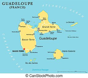 地圖, guadeloupe, 政治