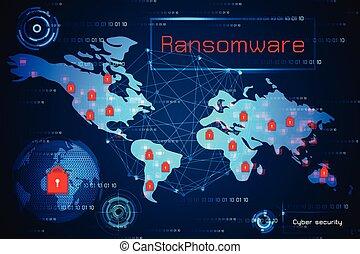 地圖, malware, 概念, 警告, ransomware, 摘要, cyber, 警報, 病毒, 高技術, 背景, 安全, 罪行, 技術, antivirus, 世界