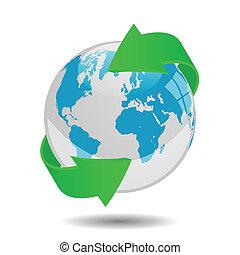 地球全球, 矢量, 插圖