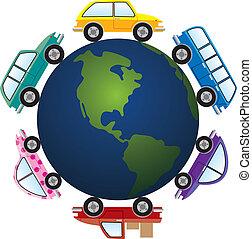 地球, 大約, 汽車